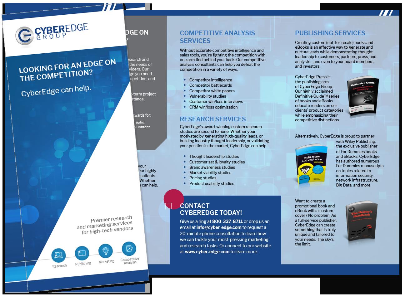 Presentation image for CyberEdge Tri-Fold Company Brochure
