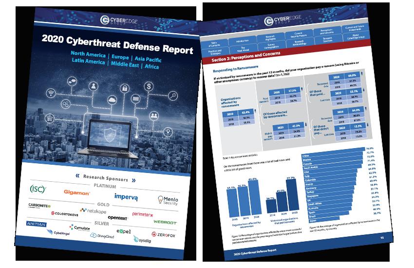 Presentation image for 2020 Cyberthreat Defense Report