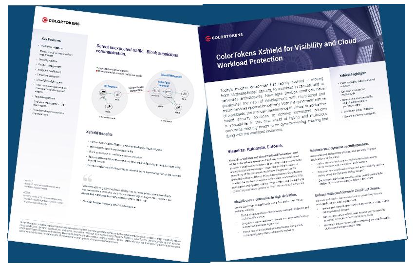 Presentation image for ColorTokens Xshield Solution Brief