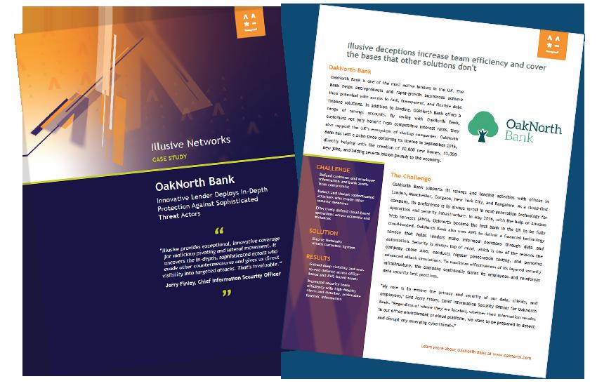 Presentation image for Illusive Networks Case Study: OakNorth Bank