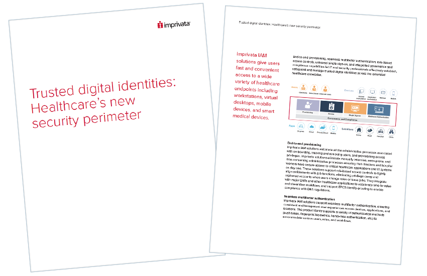 Presentation image for Trusted Digital Identities: Healthcare's New Security Perimeter