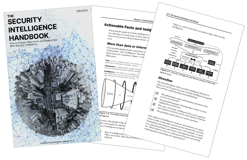 Presentation image for The Security Intelligence Handbook, Third Edition