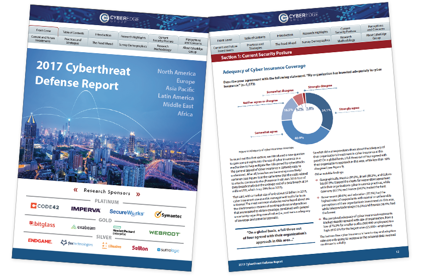 Presentation image for CyberEdge 2017 Cyberthreat Defense Report