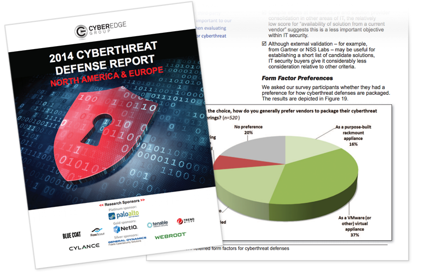 Presentation image for CyberEdge 2014 Cyberthreat Defense Report
