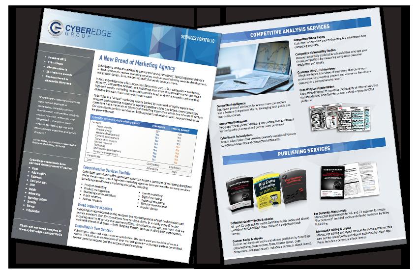 Presentation image for CyberEdge Services Portfolio Brochure
