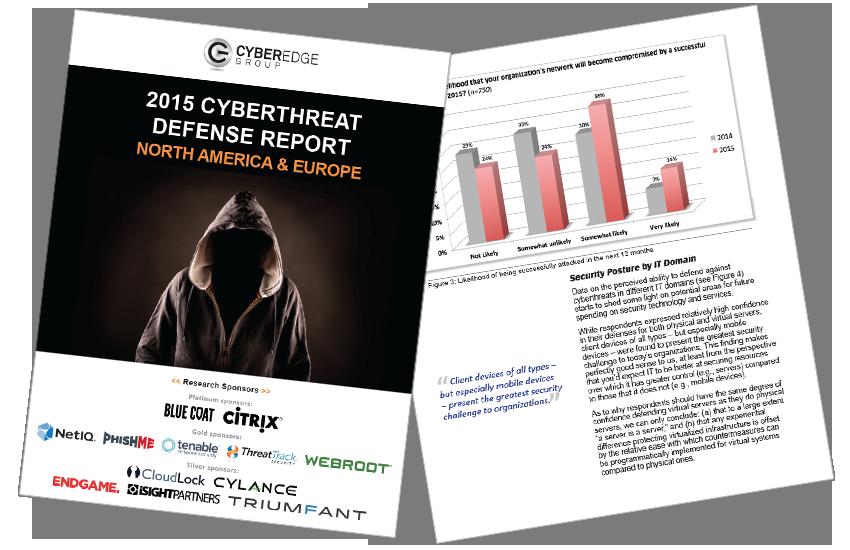 Presentation image for CyberEdge 2015 Cyberthreat Defense Report