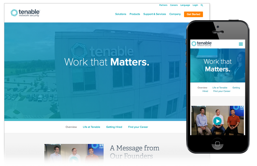 Presentation image for Tenable Careers Microsite