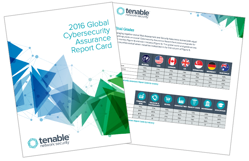 Presentation image for Tenable 2016 Global Cybersecurity Assurance Report Card
