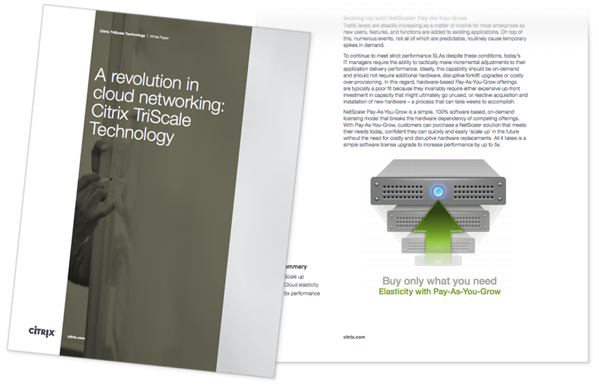 Presentation image for A Revolution in Cloud Networking: Citrix TriScale Technology