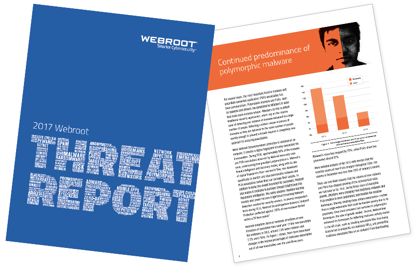 Presentation image for Webroot 2017 Threat Report