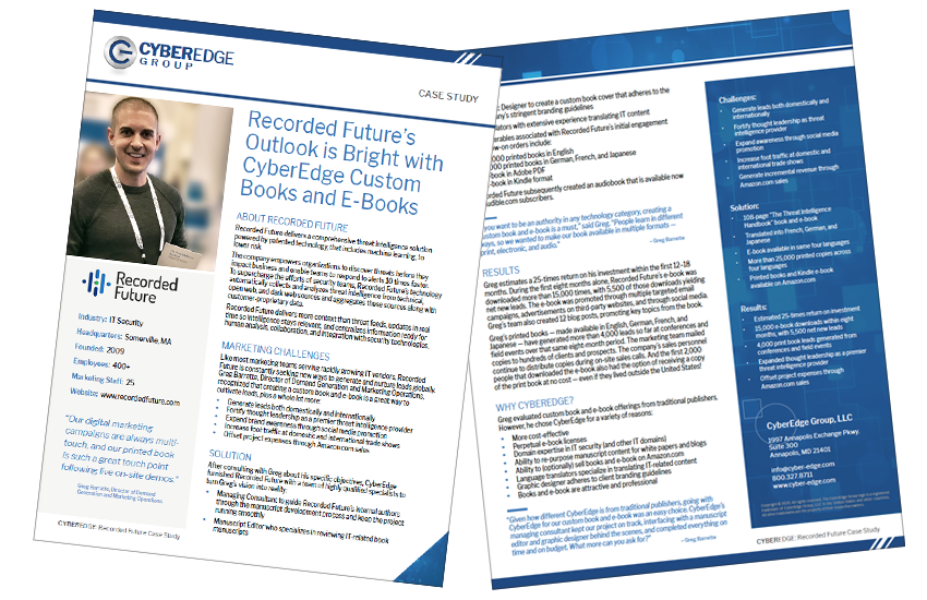 Presentation image for Recorded Future Case Study - Custom Books & eBooks