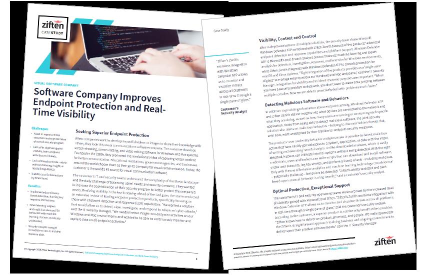 Presentation image for Software Company Customer Case Study