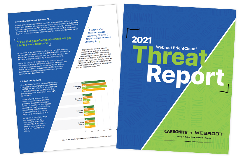 Presentation image for 2021 Webroot Threat Report