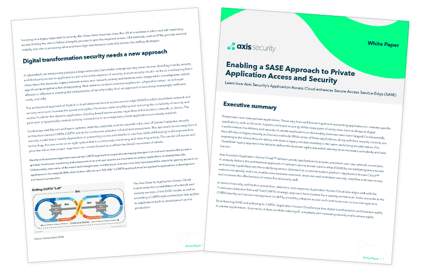 Presentation image for Enabling a SASE Approach to Private Application Access and Security