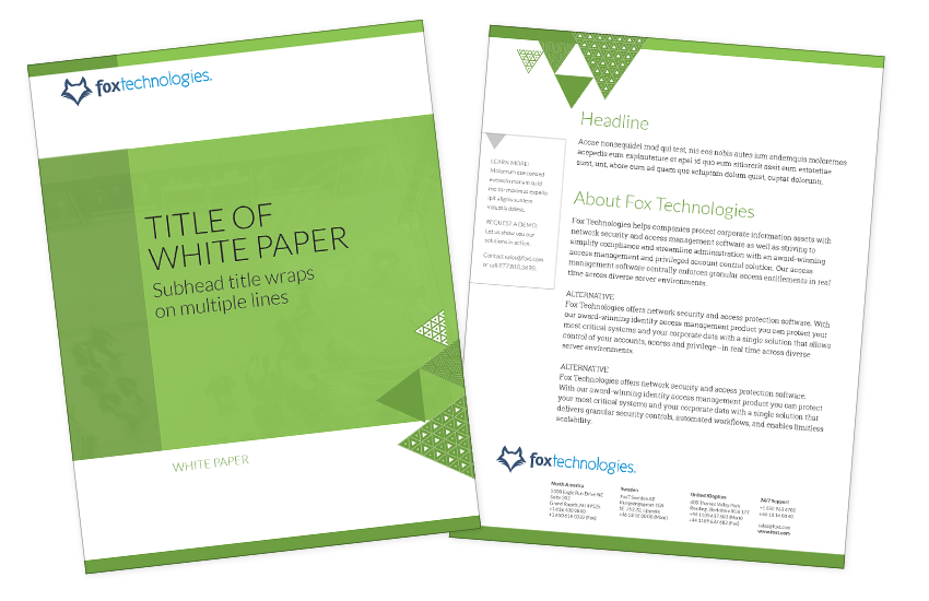 Presentation image for Fox Technologies White Paper Template