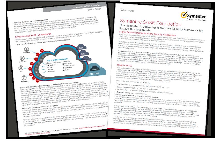 Presentation image for Symantec SASE Foundation